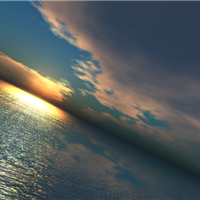 Virtual Worlds Sunsets