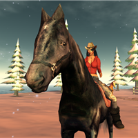 Metaverse Girls with Virtual Horses